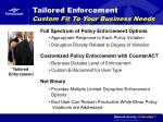 tailored enforcement