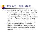 status of it ites bpo