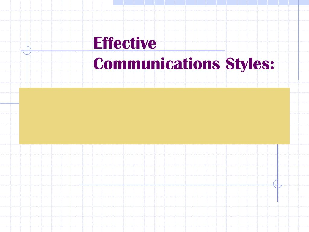effective communications styles l.