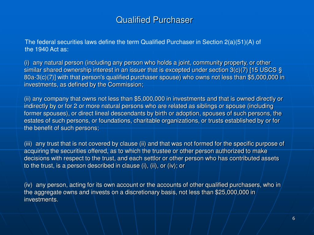 Qualified Purchaser