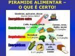 piramide alimentar o que certo