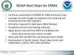 noaa next steps for erma