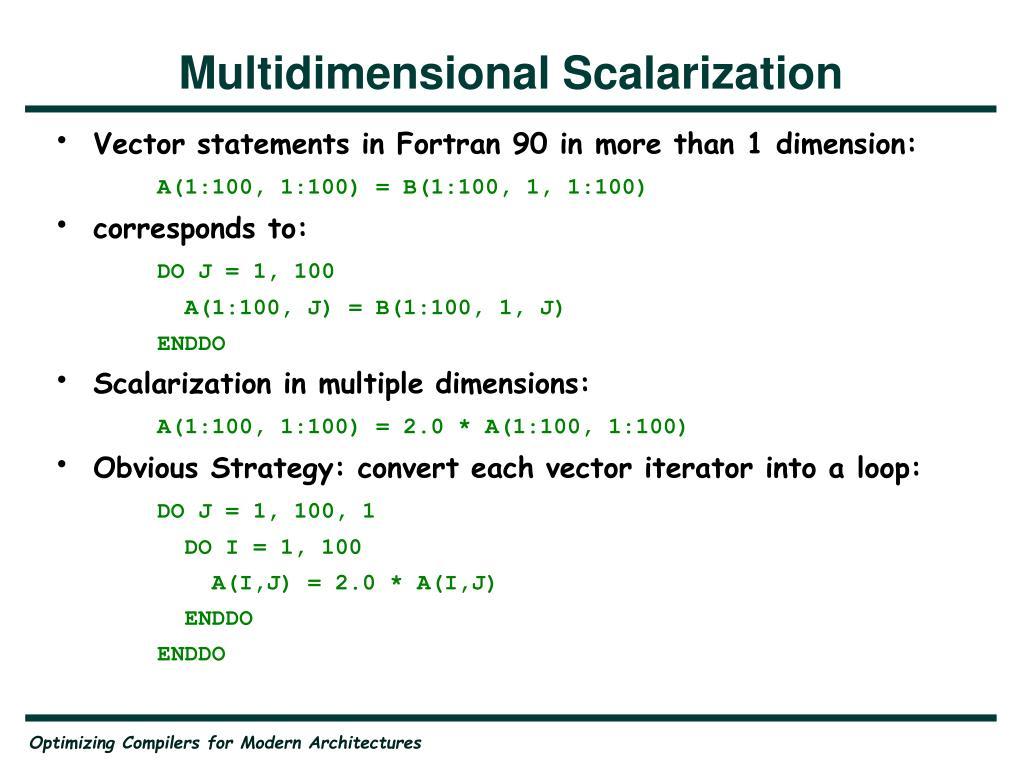 Multidimensional Scalarization