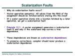 scalarization faults