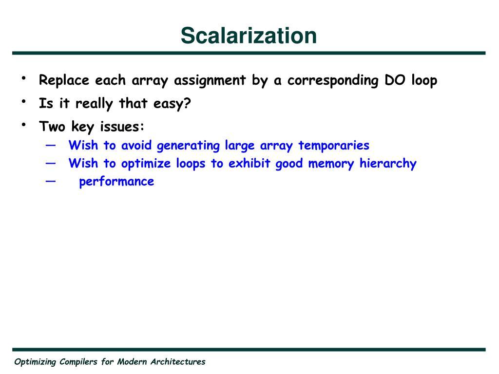 Scalarization