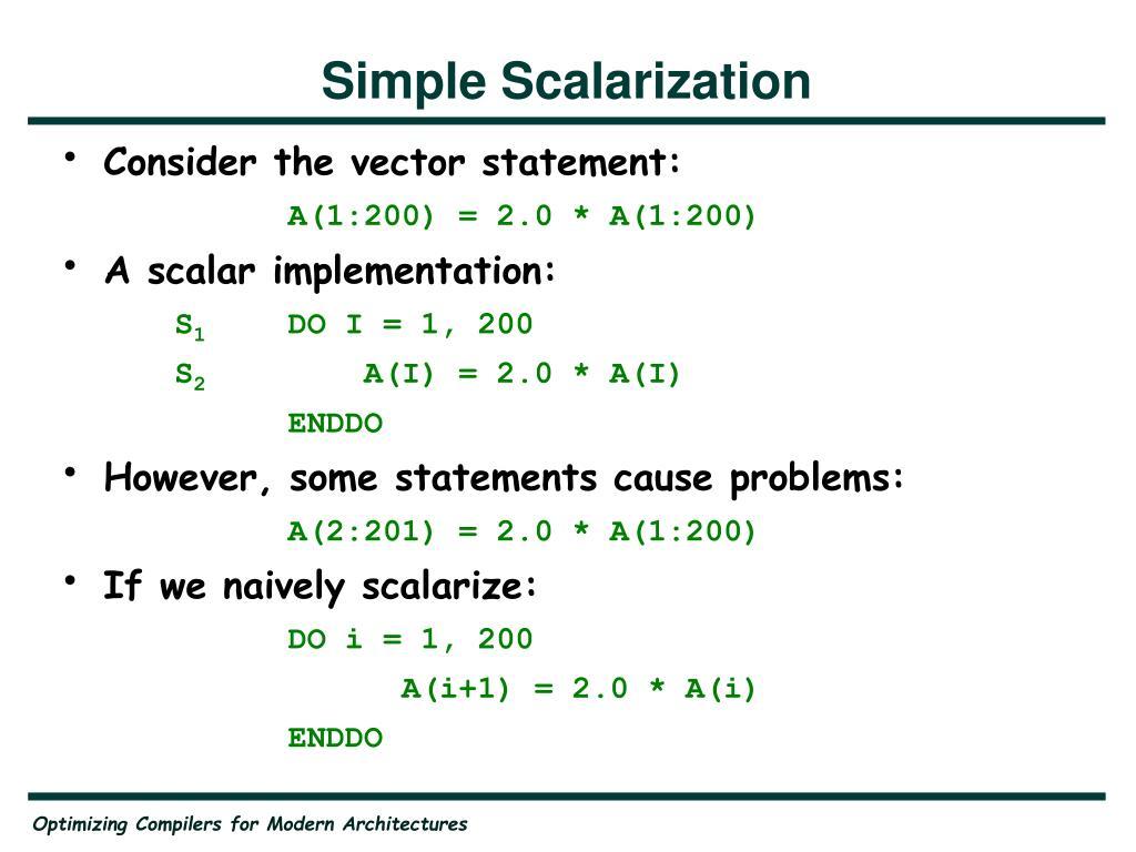 Simple Scalarization