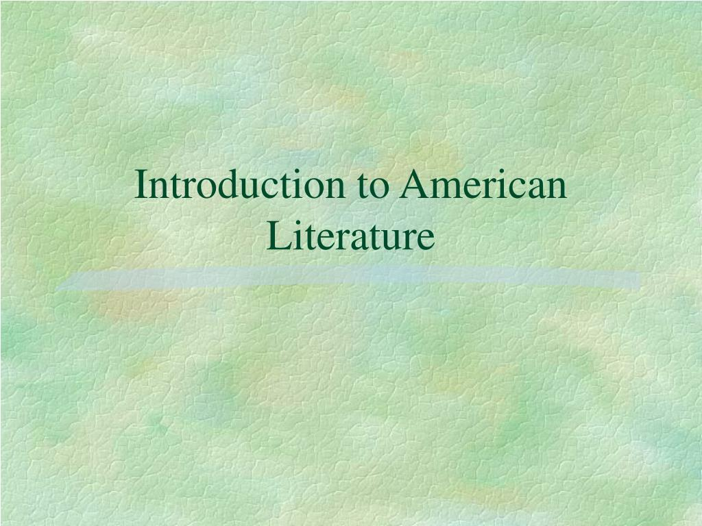 introduction to american literature l.