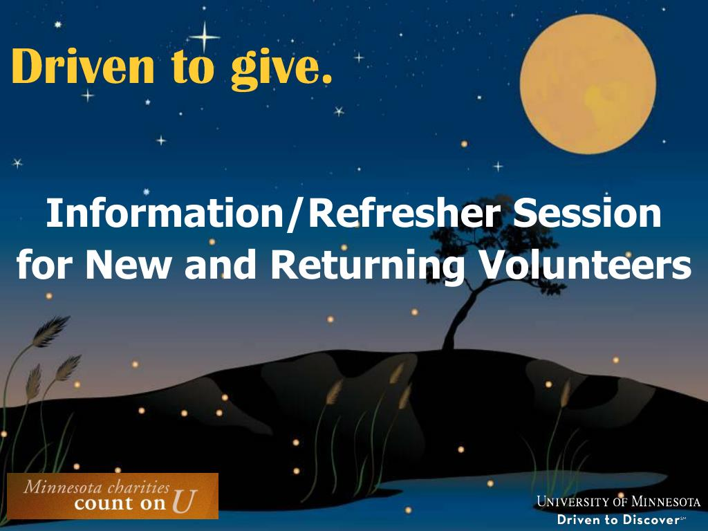 Information/Refresher Session
