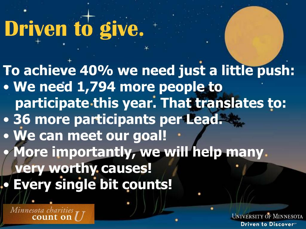 To achieve 40% we need just a little push: