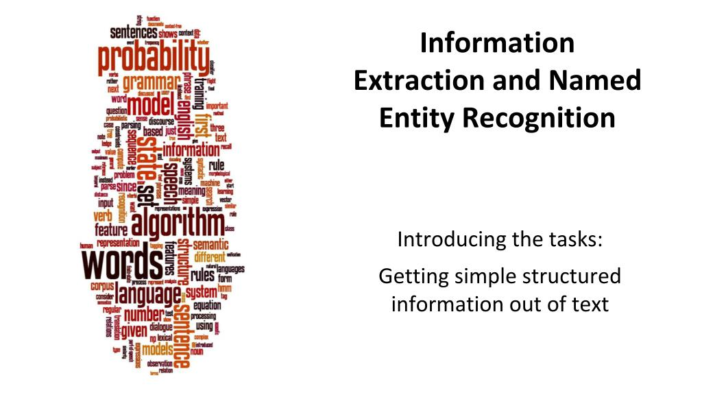 information extraction and named entity recognition l.