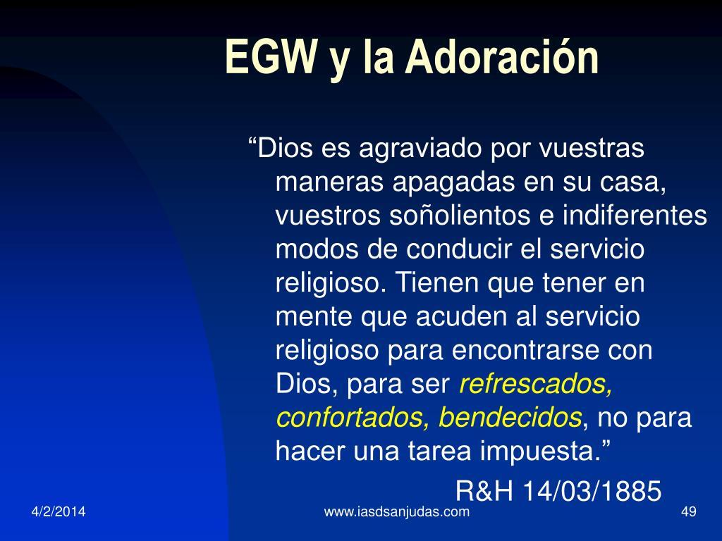 EGW y la Adoración