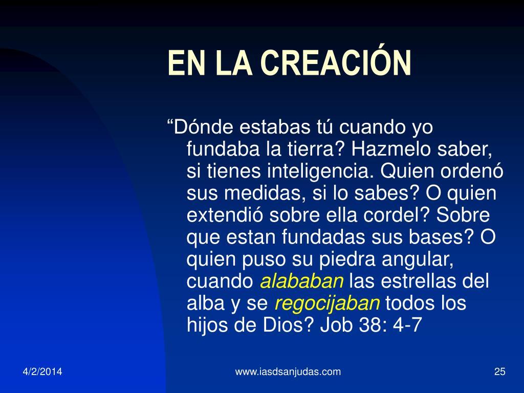 EN LA CREACIÓN