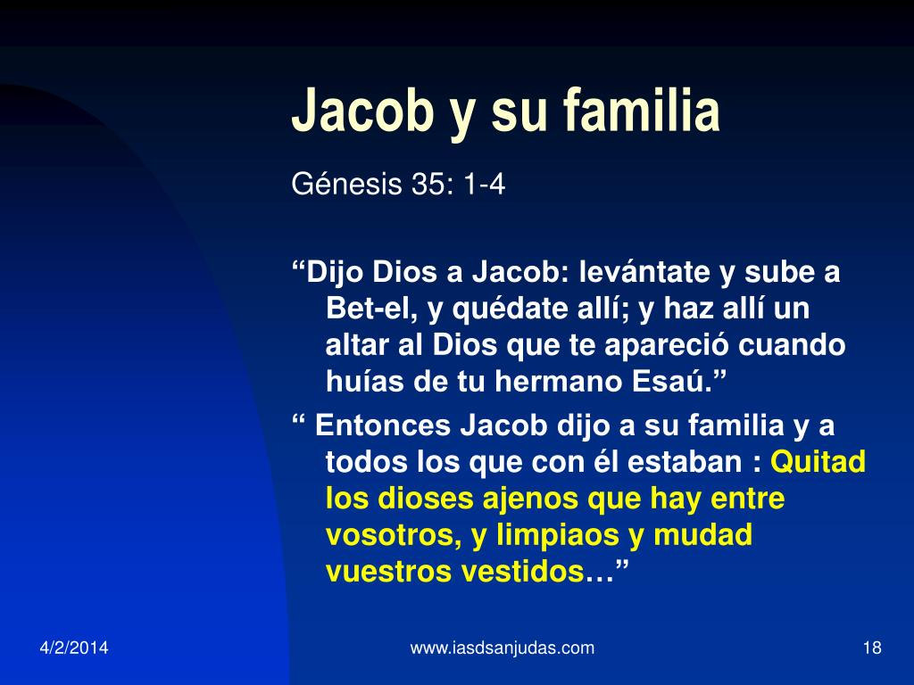 Jacob y su familia