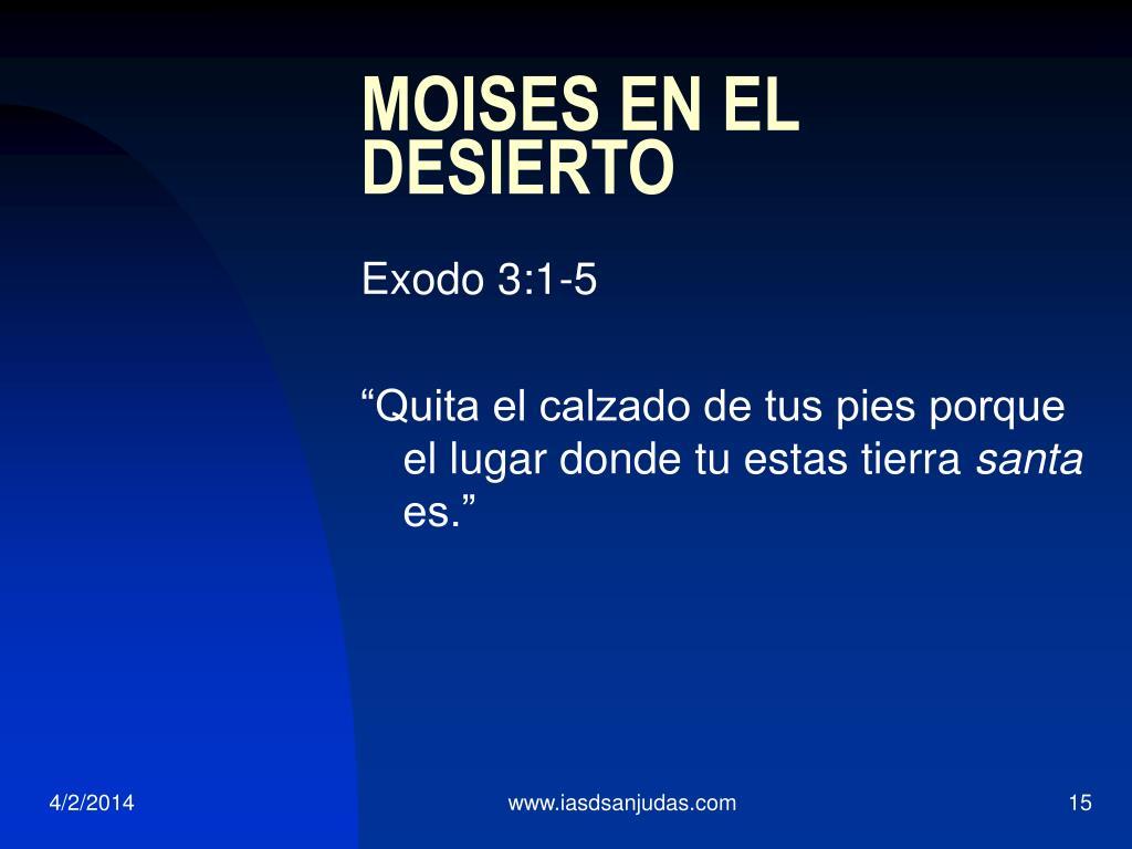 MOISES EN EL DESIERTO