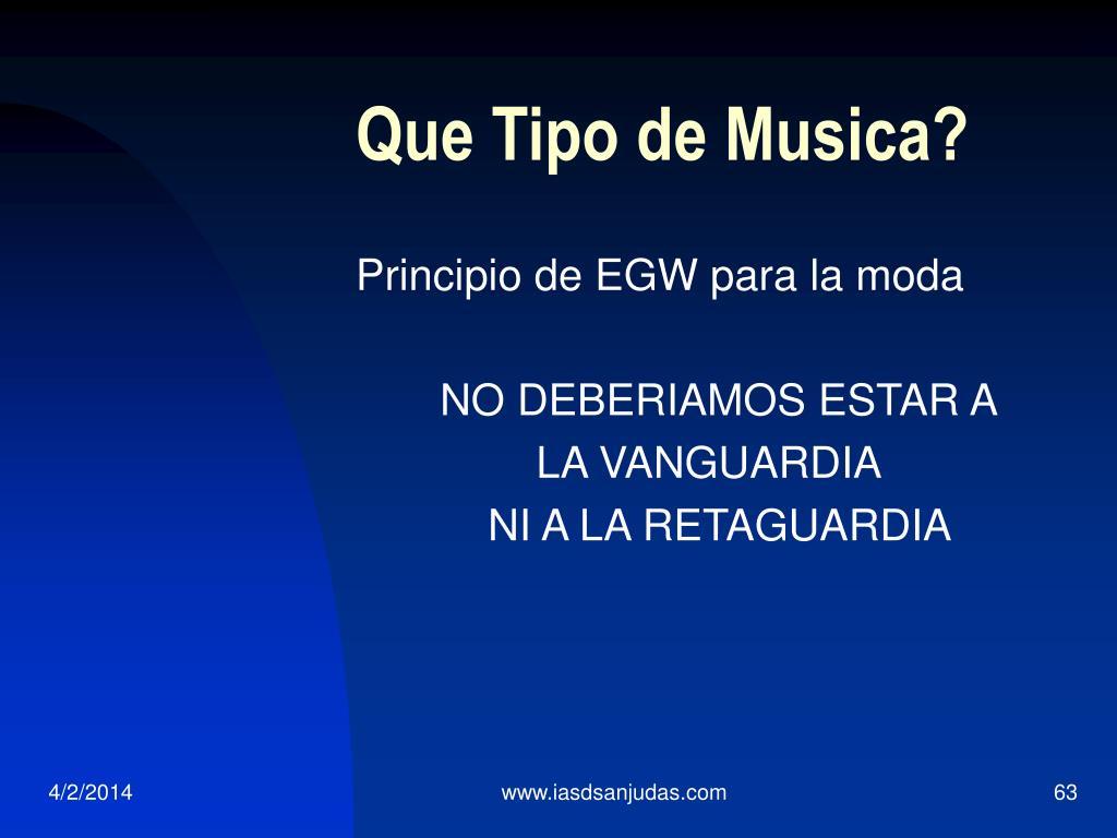 Que Tipo de Musica?
