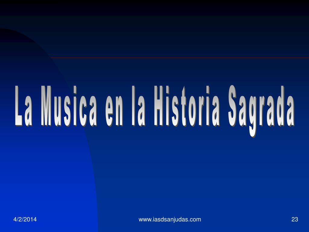 La Musica en la Historia Sagrada