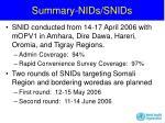 summary nids snids