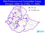 wild poliovirus and compatible cases ethiopia 2006 as of may 11 2006