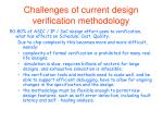 challenges of current design verification methodology