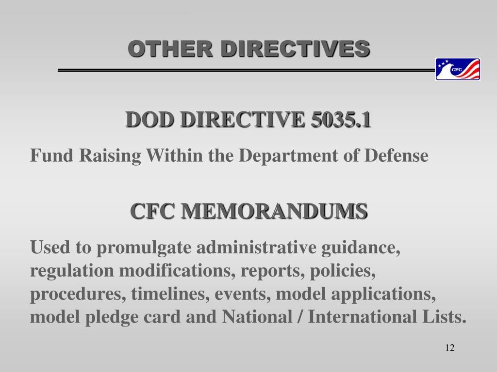 OTHER DIRECTIVES