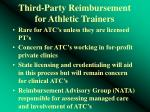 third party reimbursement for athletic trainers