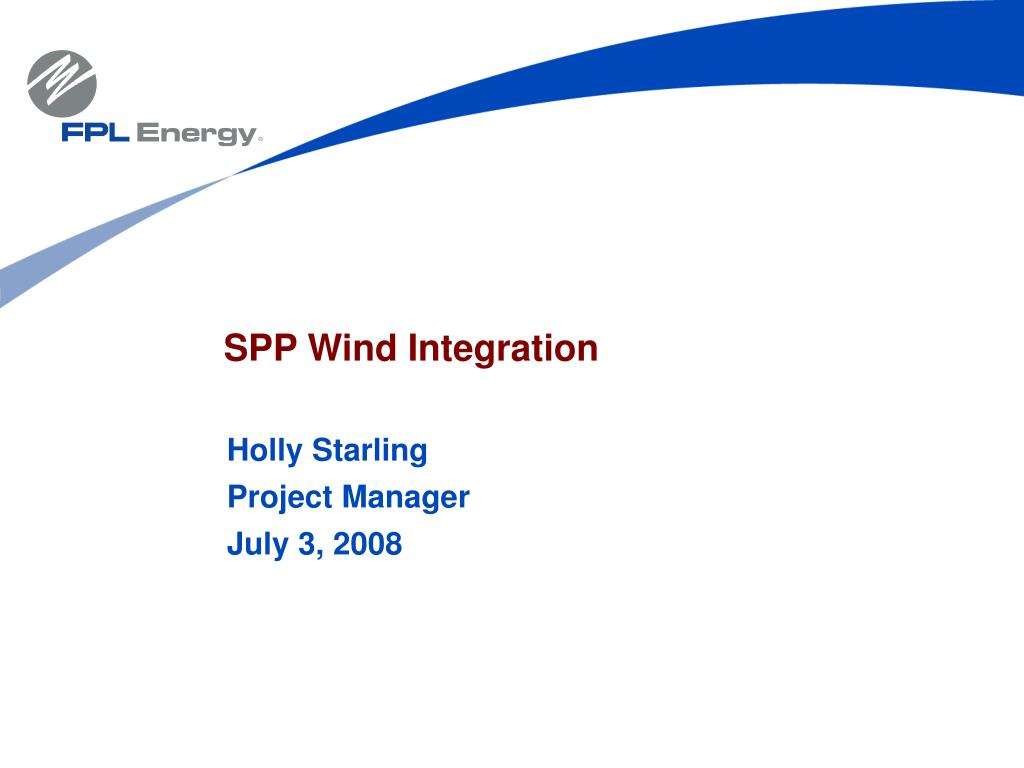 spp wind integration l.