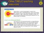 other taelc teaching resources