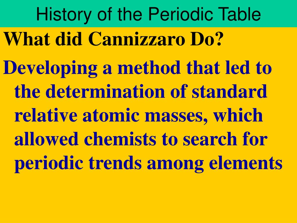 history of the periodic table l.