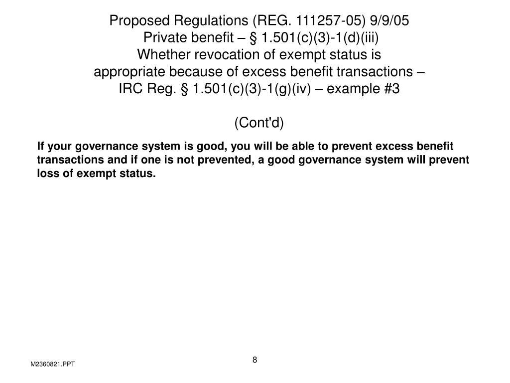 Proposed Regulations (REG. 111257-05) 9/9/05
