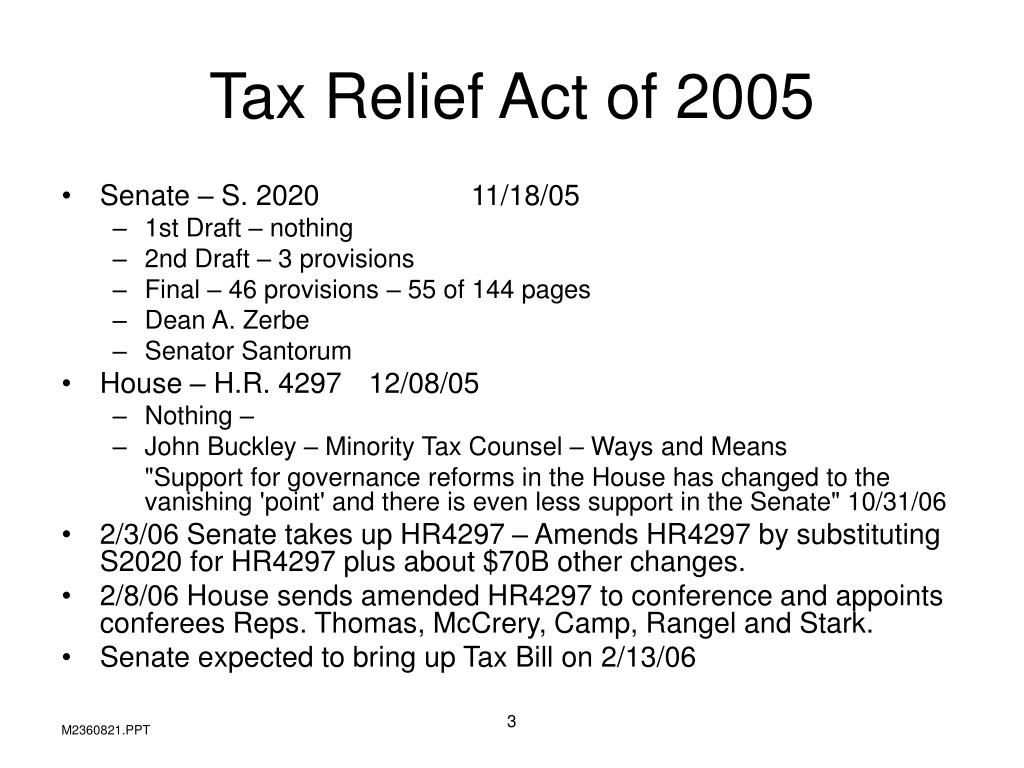 Tax Relief Act of 2005
