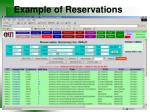 example of reservations