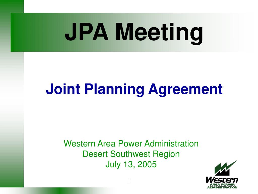 jpa meeting joint planning agreement l.