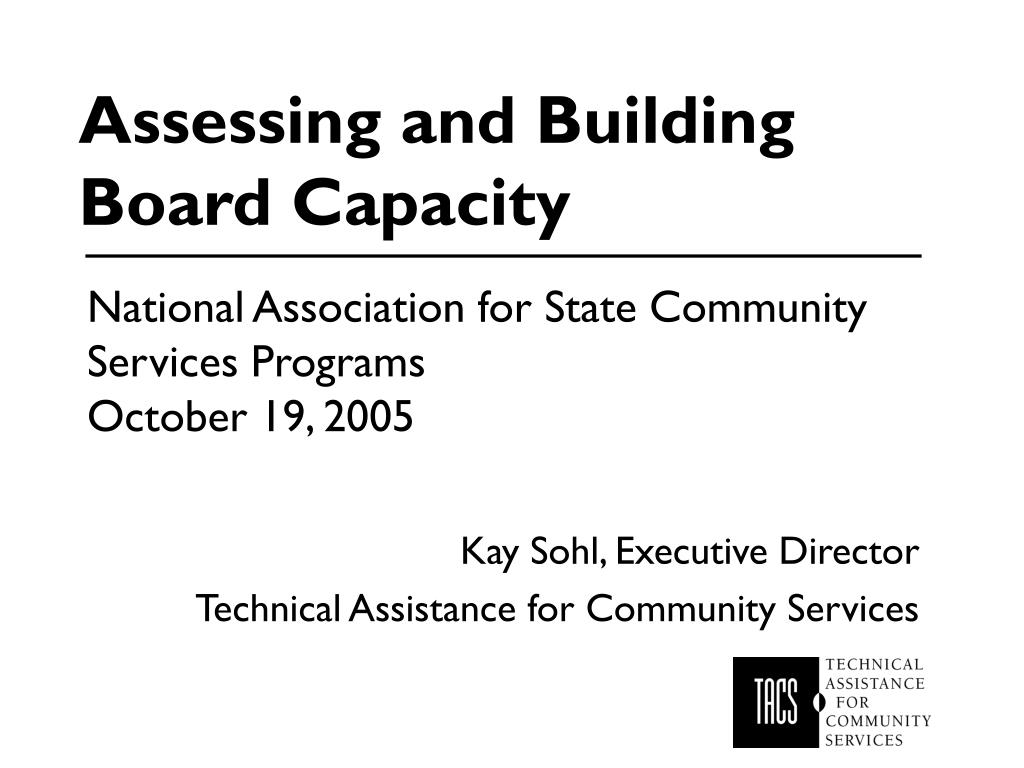 assessing and building board capacity l.