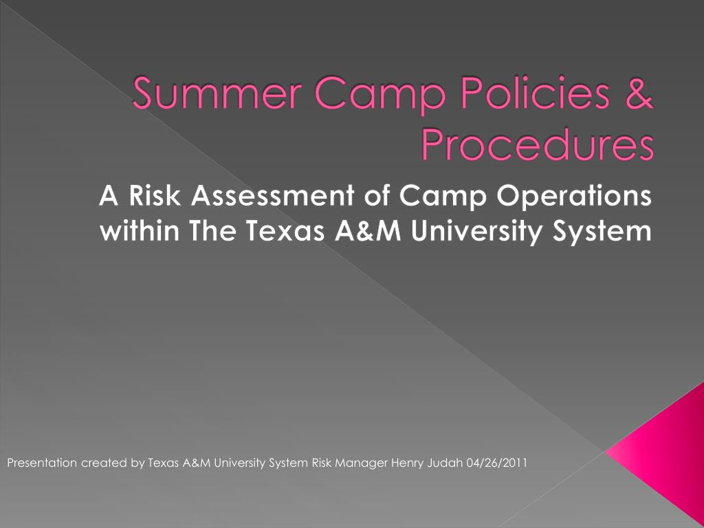 summer camp policies procedures l.