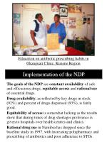 implementation of the ndp