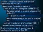 creation complete heavens earth created god finished his work 1 330