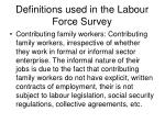 definitions used in the labour force survey15