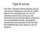 type of survey