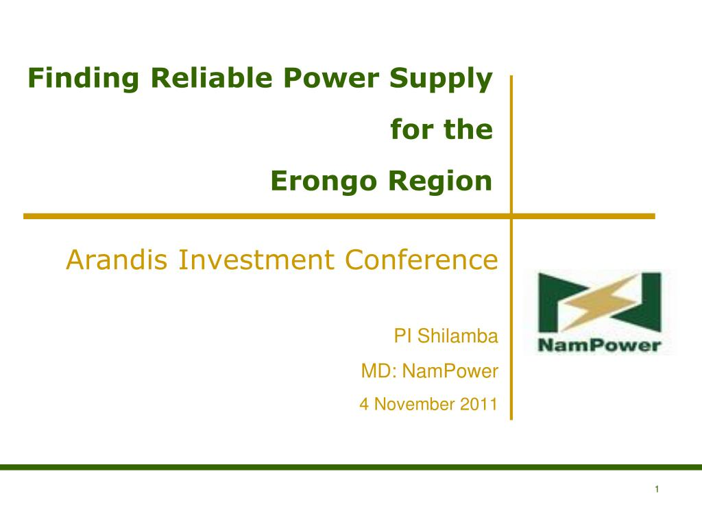 finding reliable power supply for the erongo region l.