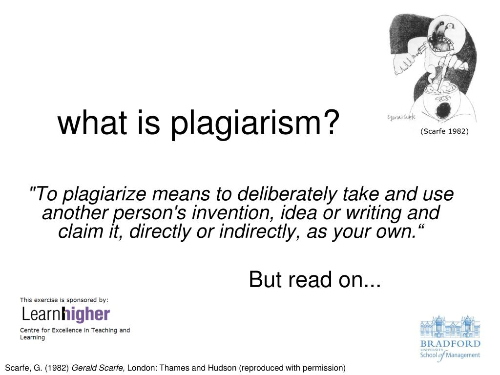 what is plagiarism l.