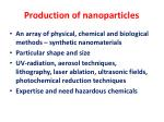 production of nanoparticles