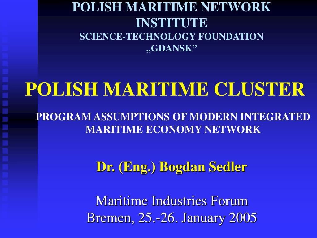 polish maritime cluste r l.