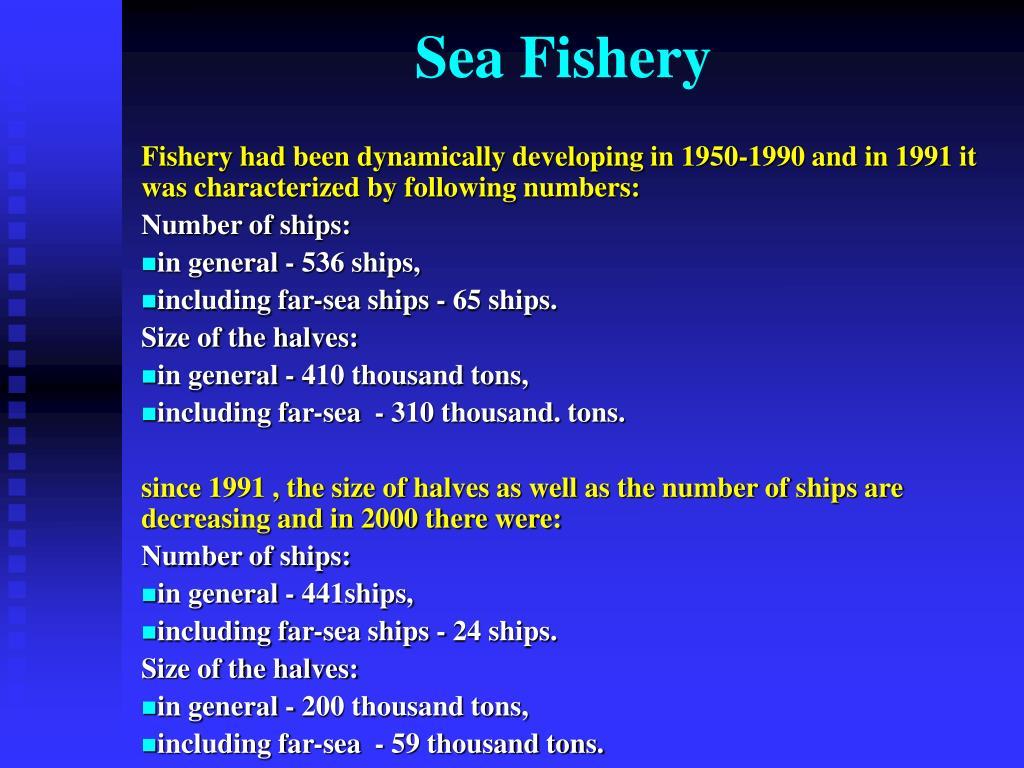 Sea Fishery