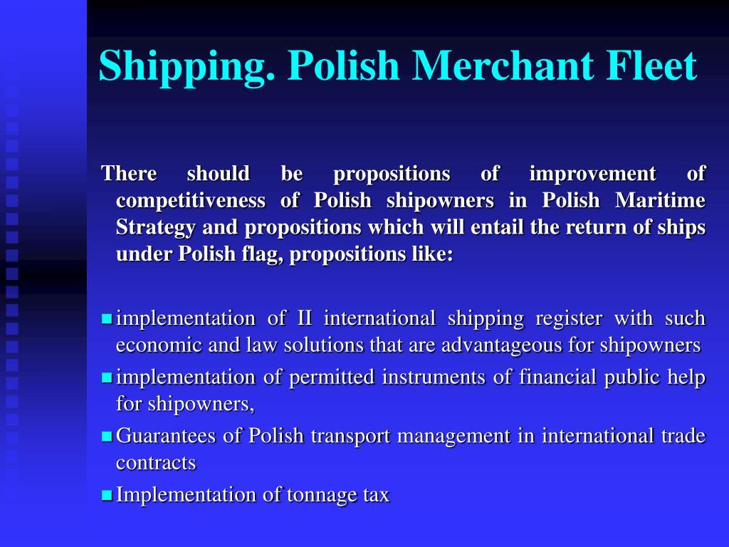 Shipping. Polish Merchant Fleet