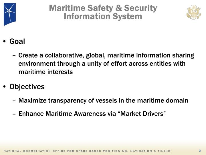 Maritime safety security information system