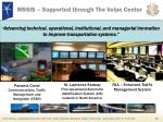 mssis supported through the volpe center
