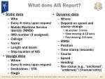 what does ais report