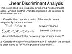 linear discriminant analysis1