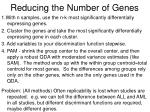 reducing the number of genes
