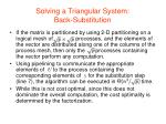 solving a triangular system back substitution2